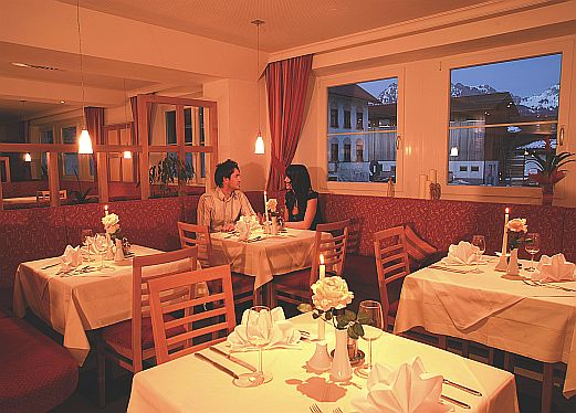 Das á-la-carte Restaurant in Tannheim